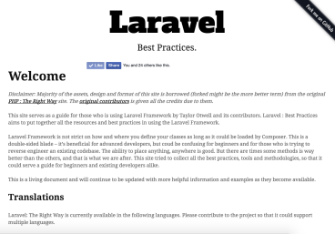 Laravel Best Practices